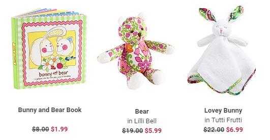 vera bradley bunny and bear gift idea