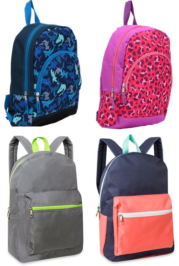 "Basic 15"" Or 16″ Front Pocket Backpacks For $3.97!"