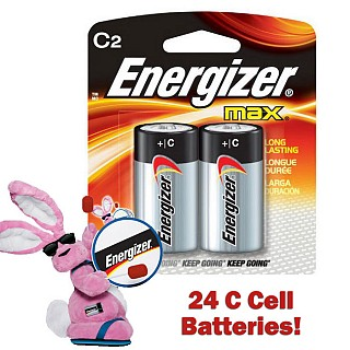 24 Pack of Energizer C Max Batteries