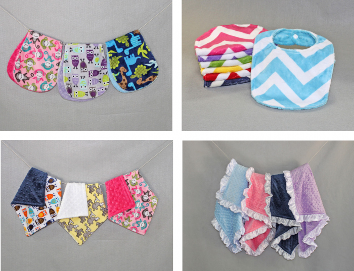 Bebe Bella Designs Bibs, Burpies, Blankees and Toddler Blankets