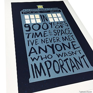 Doctor Who Inspired 900 Years Typography Print