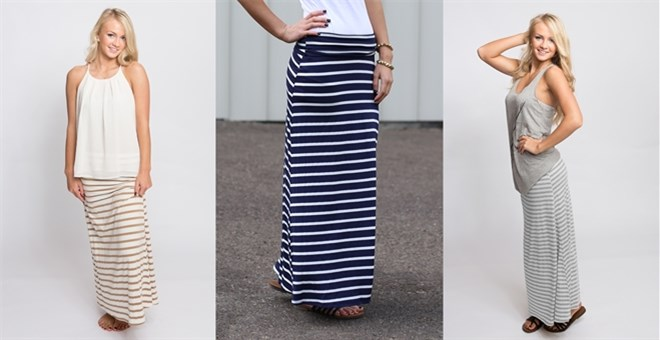 Everyday Striped Maxi Skirts