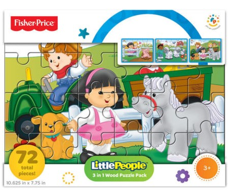 Fisher-Price 3-in-1 Big Adventure Wood Puzzle