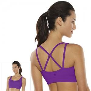 Gaiam Bra Shine Wire-Free Low-Impact Yoga Sports Bra