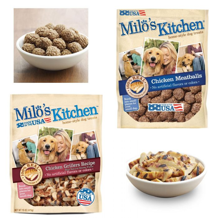 Milo's Kitchen Chicken Grillers, Chicken Meatballs or Chicken Jerky Strips