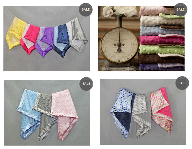 Minky Chenille Baby Blanket choices