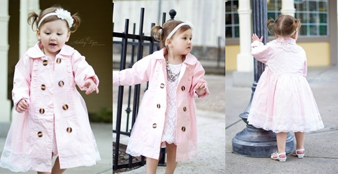Pretty in Pink Peacoat