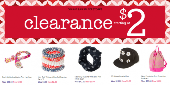claires $2 clearance