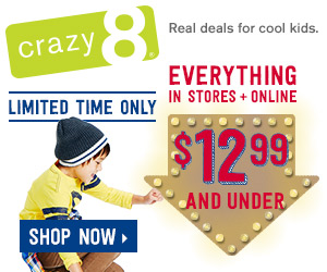 crazy 8 12.99 and under