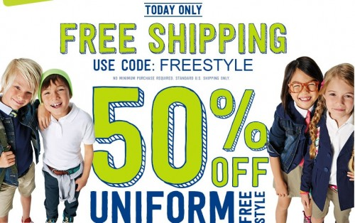 crazy 8 free shipping 50 off uniforms