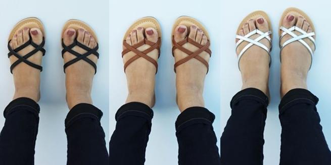 criss cross sandles