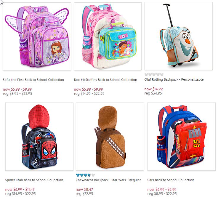 disney store backpacks