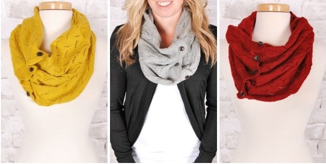 fall button scarf