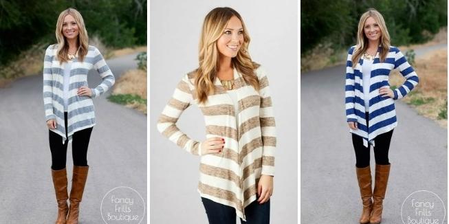 fall striped cardigan