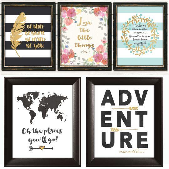 gold accent art prints