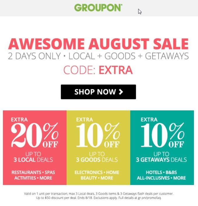groupon 20 code