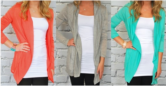 light weight long cardigans