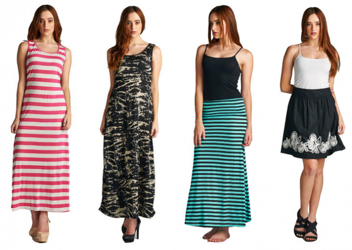 maxi dress and skirt sale