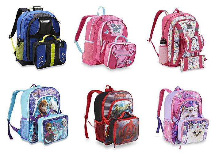 sears backpack lunchbag combos