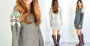 sequin sweater tunic