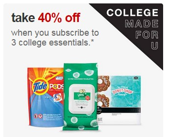 target back to college subscription