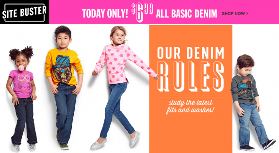 the childrens place basic denim