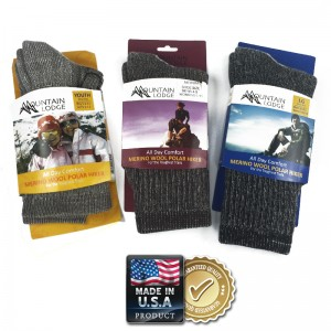 2 Pairs of Merino Wool Socks by Mountain Lodge