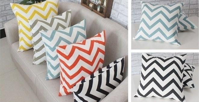 Chevron Pillow Case 18x18 - 5 Colors