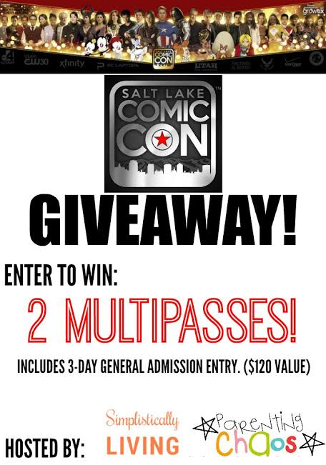 Comic Con Giveaway