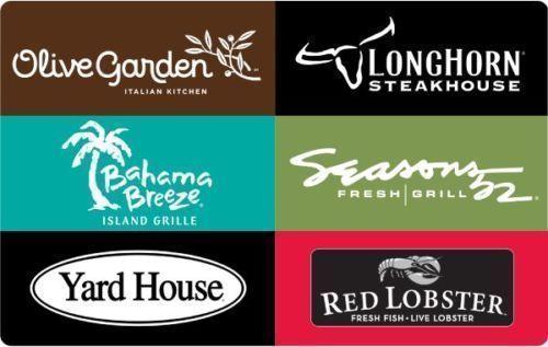 Darden Restaurants gift card Olive Garden, Red Lobster