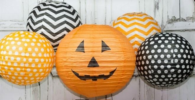 Festive Halloween Lanterns with LED Lights