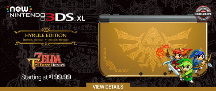 GameStop Exclusive Nintendo New 3DS XL - Hyrule Gold Edition Now Available for Pre-Order