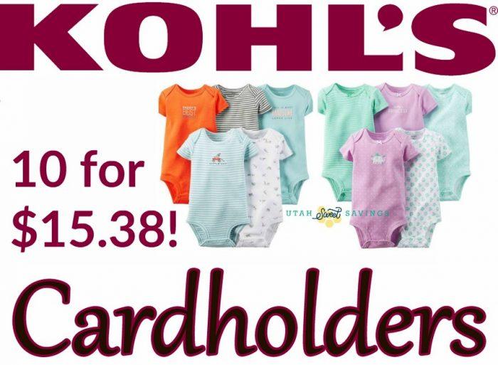 Kohl's Onesie Deal
