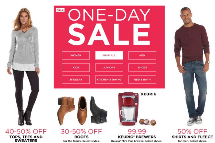 Kohls one Day sale