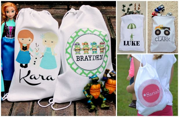 Personalized Trick-or-Treat or Toy Bags