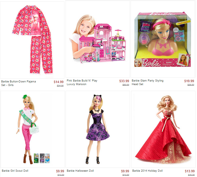 barbie zulily