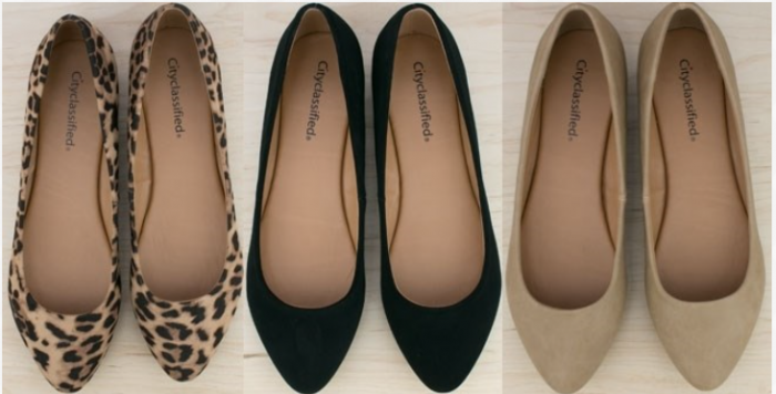basic pointy toe flats