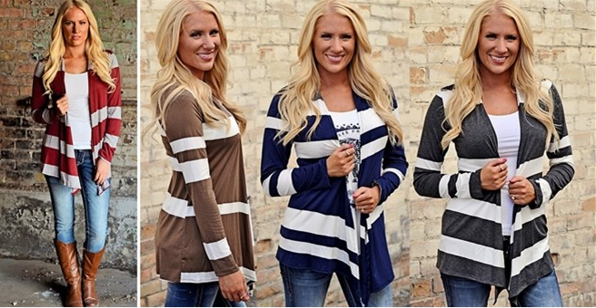 best selling stripe cardigan