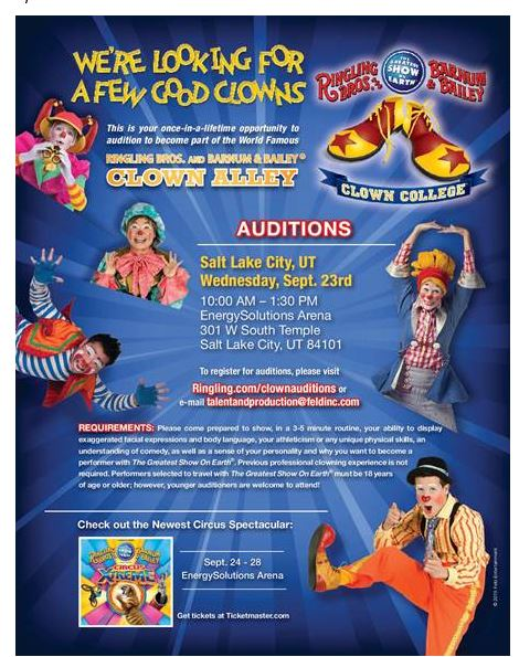 circus auditions
