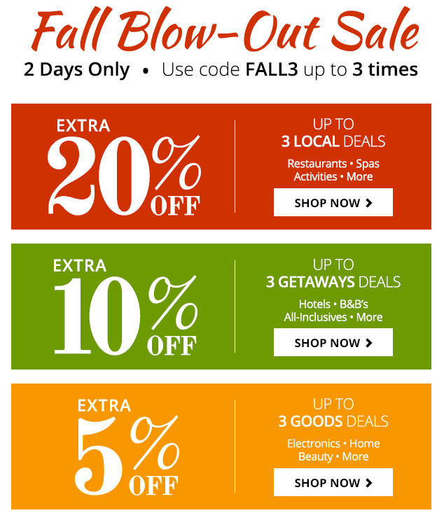 groupon fall blowout sale