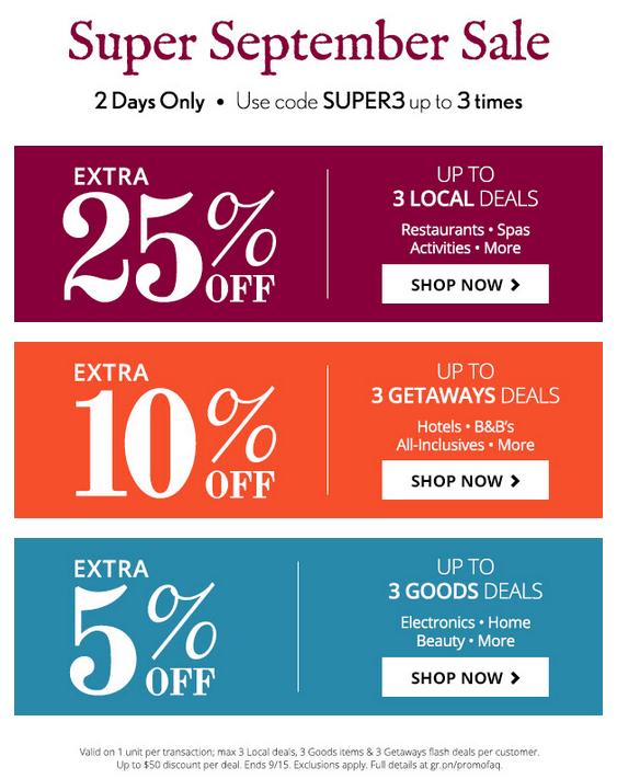 groupon super sale