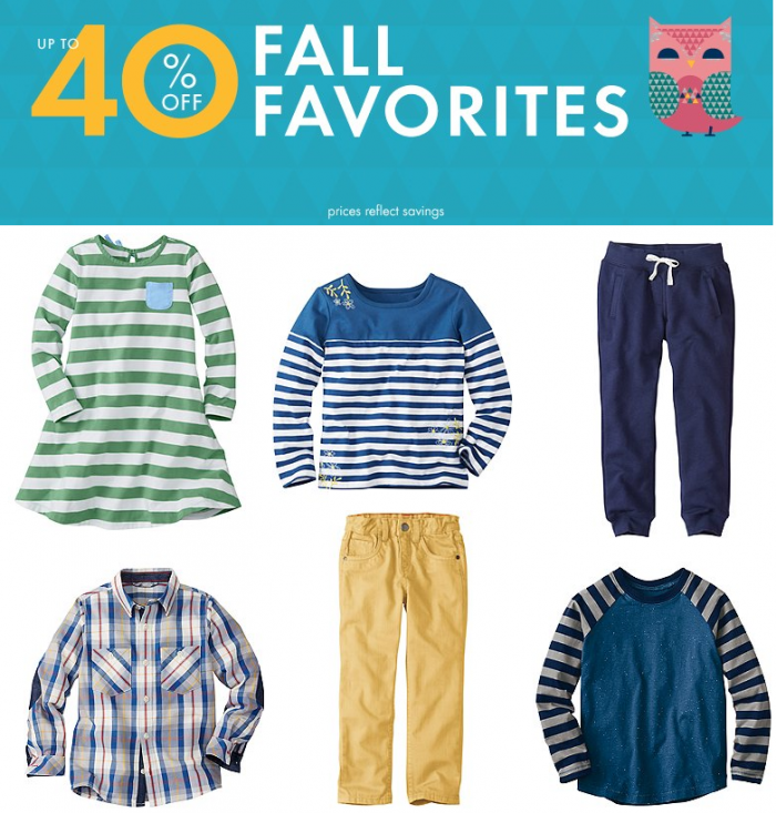 hanna anderson 40 off fall favorites