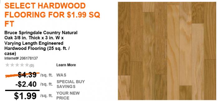 home depot hard wood flooring