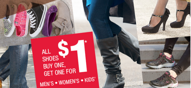 kmart shoes BOGO $1