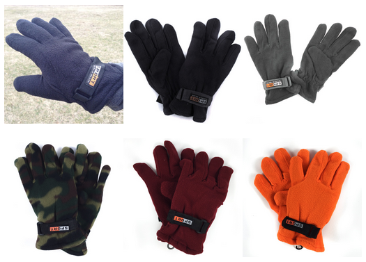 3 Pack Polar Fleece Gloves
