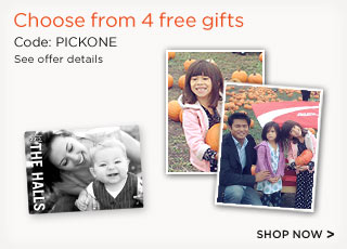 4 free gifts shutterfly