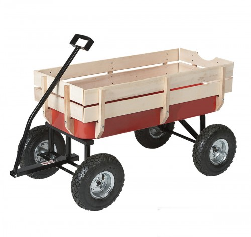 All Terrain Pull Cargo Nursery Wagon Red Kids Garden Cart