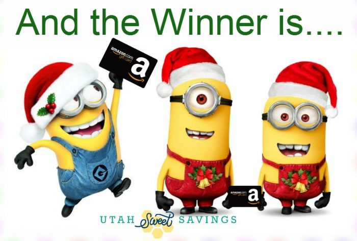 Amazon Gift Card Winner