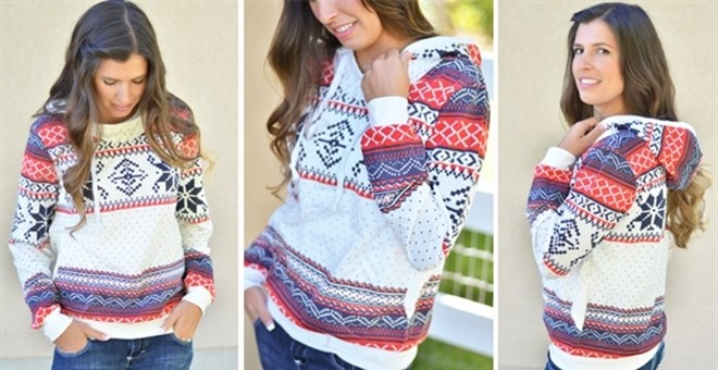 Cozy Holiday Hooded Sweatshirt