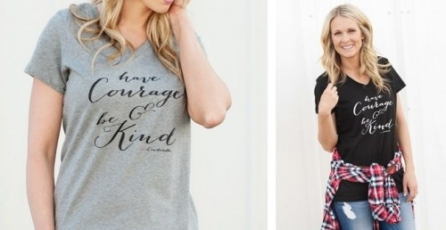 Have Courage and Be Kind - Women's V-Neck Tees